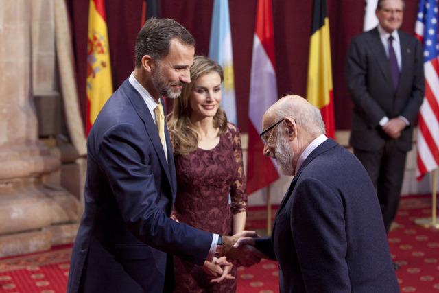 Prince Felipe, Princess Letizia, François Englert