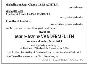 2014-11-Décès Madame Laes